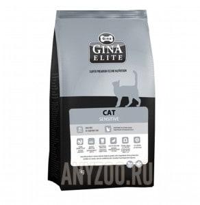 Купить Gina Elite Cat Sensitive Джина Сенситив сухой корм для кошек с чувствительным пищеварением