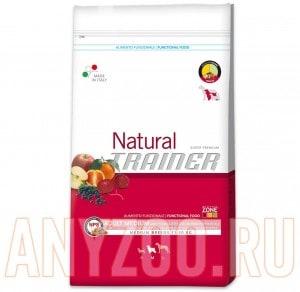 Купить Trainer Natural Adult Medium Cured Ham,Rice Сухой корм для собак средних пород Ветчина,рис и молоко
