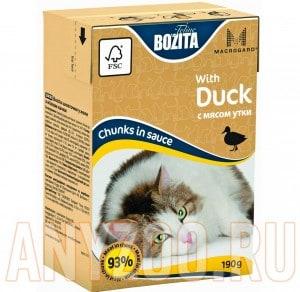 Купить Bozita Mini Tetra Pak д/кошек кусочки в соусе с Мясом Утки
