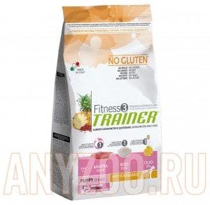 Купить Trainer Fitness Puppy Medium/Maxi Duck/Rice Сухой корм для щенков крупных/средних пород Утка