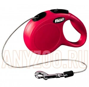 фото Flexi Classic Рулетка для собак и кошек размер XS 3м*8кг (трос) арт. 40001/2/3F