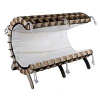 Модный Кот Эко-Лежак (кроватка)  для кошек и собак Волна