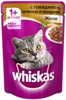 фото Whiskas - Вискас пауч для кошек желе с говядина/печень/ овощи