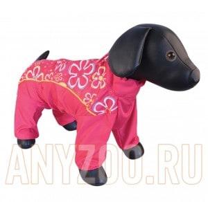 фото Dezzie Комбинезон для собак породы Мальтийская болонка, красный с цветами, девочка, болонья 5635481