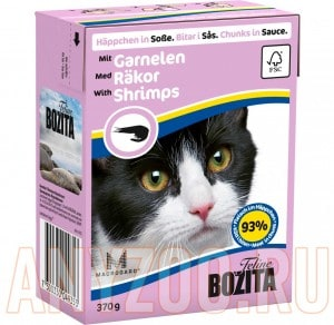 Купить Bozita Tetra Pak кон.д/кошек Кусочки в соусе с Креветками