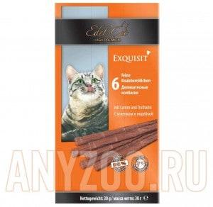 фото Edel Cat- Эдель Кэт Лакомство для кошек Колбаски ягненок/индейка