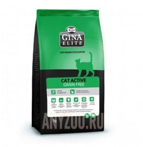 Купить Gina Elite Grain Free Cat Джина Грейн Фри сухой беззерновой корм для кошек