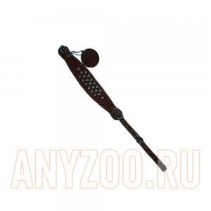 Купить Collar Soft Ошейник кожаный с украшениями регулируемый с двумя пряжками 10мм*21-29см