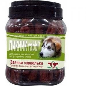 Грин Кьюзин Пикник Rabbit лакомство для собак заячьи сардельки