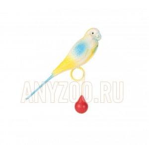 фото Beeztees 010326 Игрушка для птиц Попугай пластиковый на кольце 15см