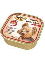 Купить Мнямс консервированный корм для взрослых собак Паштет с говядиной