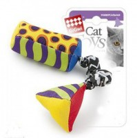 GiGwi 75279 Игрушка для кошек Тканевая дразнилка с кошачей мятой