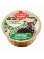 фото Родные Корма консервы для собак Кролик по-стрелецки