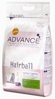 фото Advance Cat Hairball Эдванс Хейрбол сухой корм для кошек выведение волосяных комочков Индейка и рис