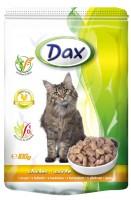 Dax полнорационный консервированный корм для взрослых кошек кусочки в соусе с курицей
