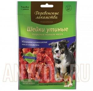 фото Деревенские лакомства для собак Традиционные Шейки утиные