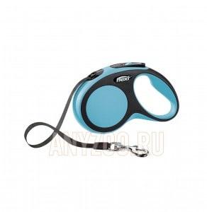 фото Flexi New Comfort рулетка для собак, размер S, 5м*15кг, ремень