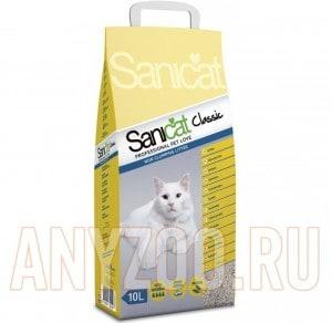 фото Sanicat Classic наполнитель впитывающий без ароматизаторов