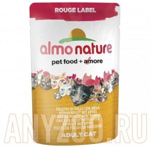 фото Almo Nature Rouge label пауч для кошек с Куриным филе и Сыром