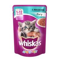 фото Whiskas Вискас пауч для котят рагу Лосось