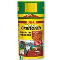 фото JBL NovoGranoMix click Основной корм в форме смеси гранул для общих аквариумов с дозатором