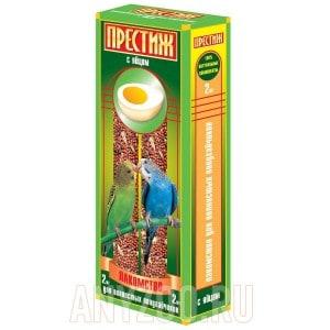 фото Престиж Жесткие палочки лакомство для волнистых попугаев с яйцом