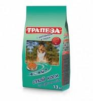 Трапеза сухой корм для взрослых собак Цыпленок с рисом