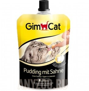 фото GimCat Cream Pudding Пудинг со сливками для кошек