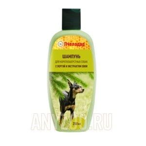 Пчелодар шампунь с пергой и хвоей для короткошерстных собак