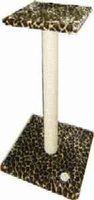 фото Когтеточка на подставке с полочкой большая цветной мех 48*48*94см (Зооник)