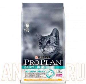 фото Pro Plan Dental Plus Про План сухой корм для ухода за полостью рта у кошек Курица