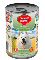 фото Родные корма Консервы для собак Жареха мясная по-двински