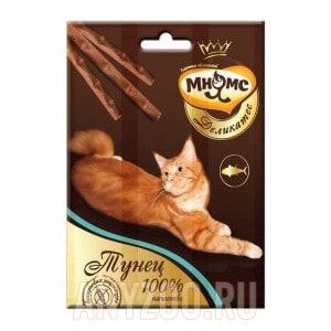 Мнямс Деликатес Лакомые палочки с тунцом для кошек 9см