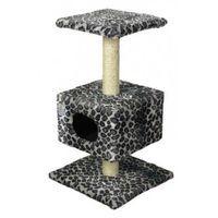 фото Зооник дом для кошки на подставке (мех) 450*450*800