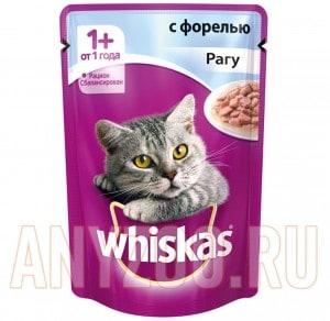 фото Whiskas - Вискас пауч для кошек Рагу с форелью