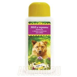 Пчелодар шампунь для собак с мёдом и лопухом