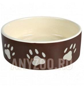 фото Trixie 24531 Миска керамическая для кошек и собак Лапка