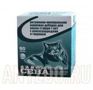 фото Ceva Витаминно-минеральная кормовая добавка для кошек старше 7 лет с олигосахаридами и таурином