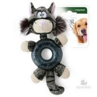 фото GiGwi 75281 Игрушка для собак Кот с кругом с пищалкой