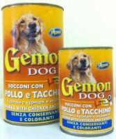 фото Gemon - Гемон консервы для собак кусочки в соусе Курица/Индейка 415гр
