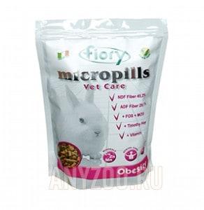 Купить Fiory Фиори Micropills Vet Care Obesity корм для карликовых кроликов с избыточным весом