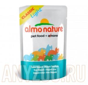 фото Almo Nature Classic консервы (пауч) для кастрированных котов и кошек с полосатым Тунцом
