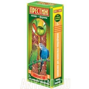 фото Престиж Жесткие палочки лакомство для волнистых попугаев с овощами и фруктами