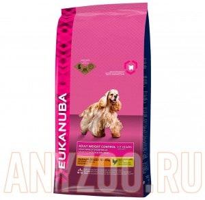 фото Eukanuba Dog Adult Medium Weight Control-Эукануба Контрль веса д/собак средних пород с лишним весом