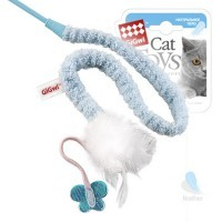 фото GiGwi Дразнилка для кошек с перьями на стеке