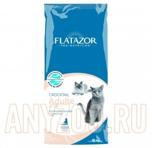 фото Flatazor Croctail Adulte Volailles Сухой корм для взрослых кошек против образования комков шерсти