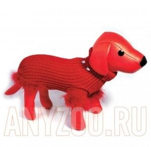 фото Dezzie Свитер для собак вязанный красный