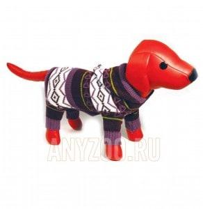 фото Dezzie Свитер для собак вязаный с меховым капюшоном