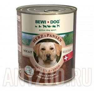 фото Bewi Dog Консервы для взрослых собак Сердце и Рубец