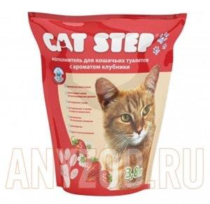 Cat Step Наполнитель силикагель с ароматом клубники
